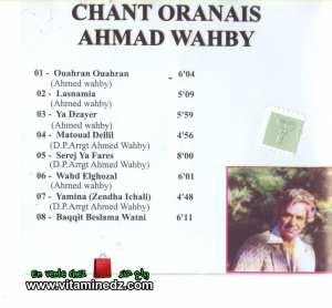 Ahmad Wahby - Chant Oranais