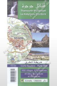 Carte routière - La Kabylie du Djurdjura