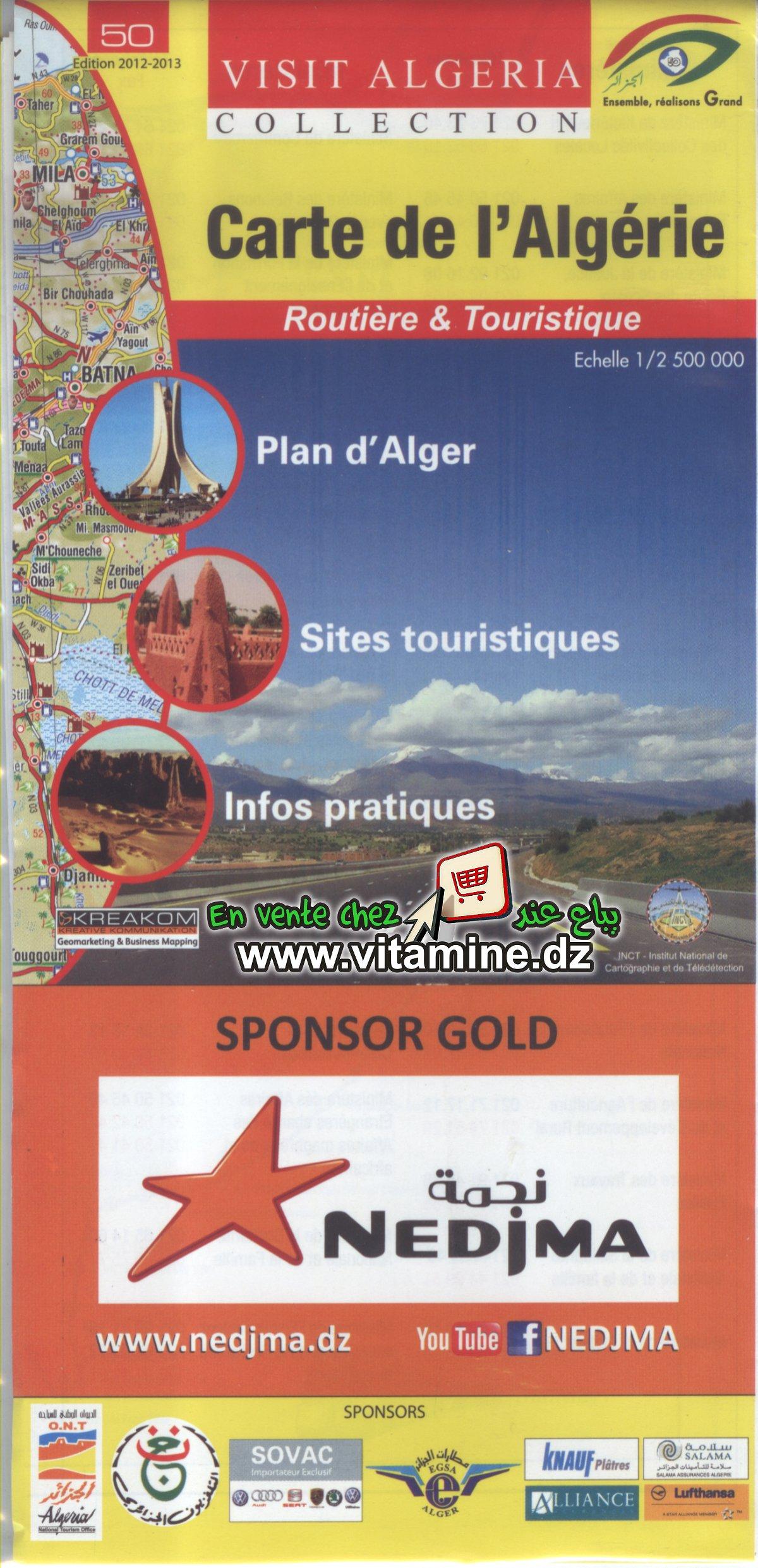 Carte de l'Algérie - Routière et touristique