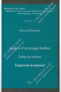 Boussad Mammeri – Analyse d'un lexique berbère
