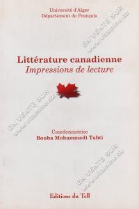 Bouba Mohammedi Tabti - Littérature Canadienne Impressions de lecture