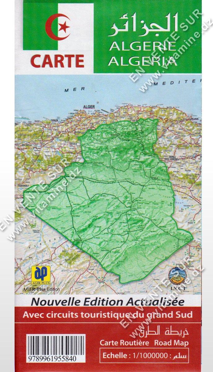 Carte Algérie ( Version Française)
