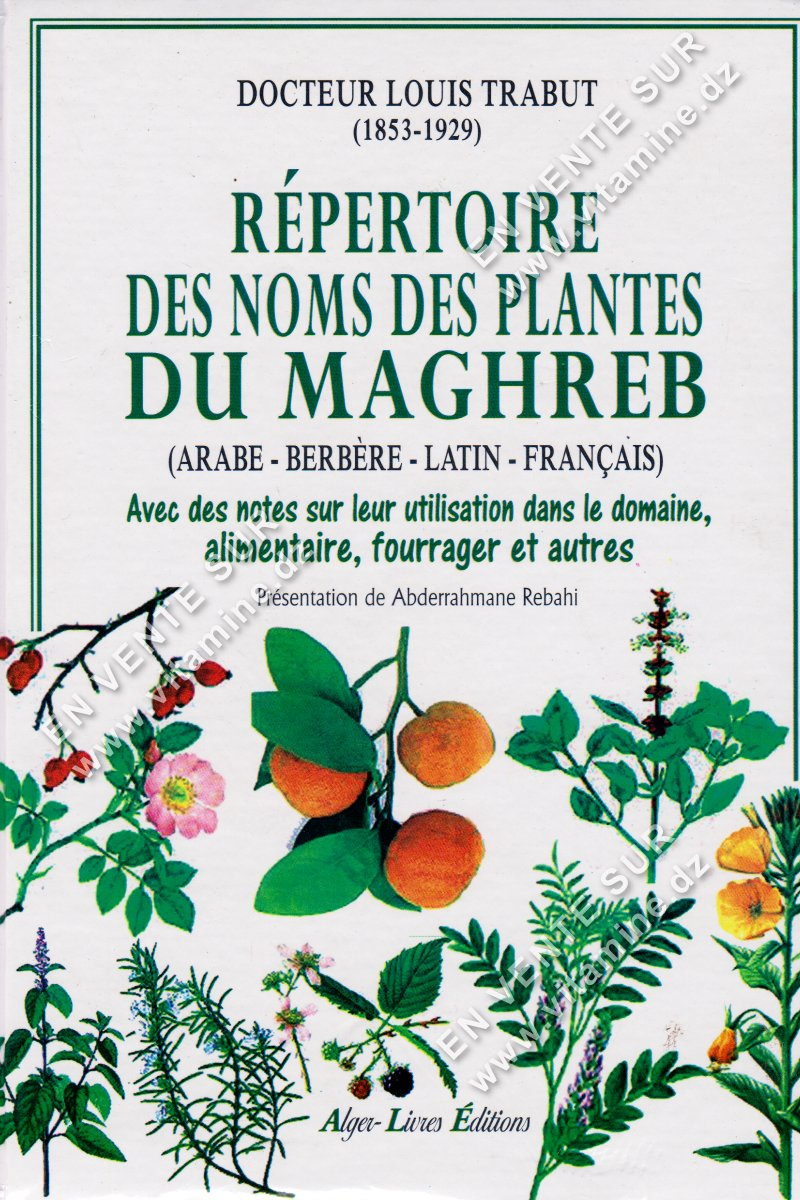 Louis Trabut - Répertoire des noms des plantes du Maghreb