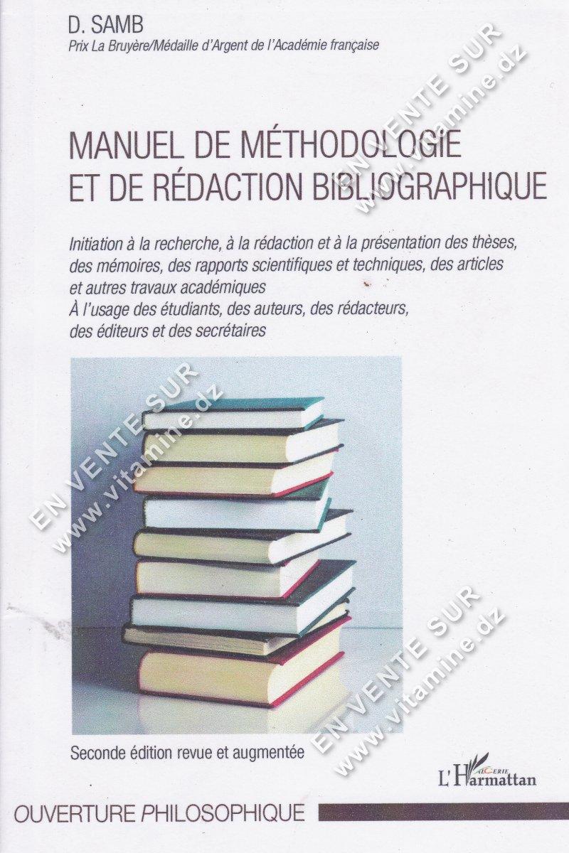 D. Samb - Manuel De Méthodologie et de Rédaction Bibliographique
