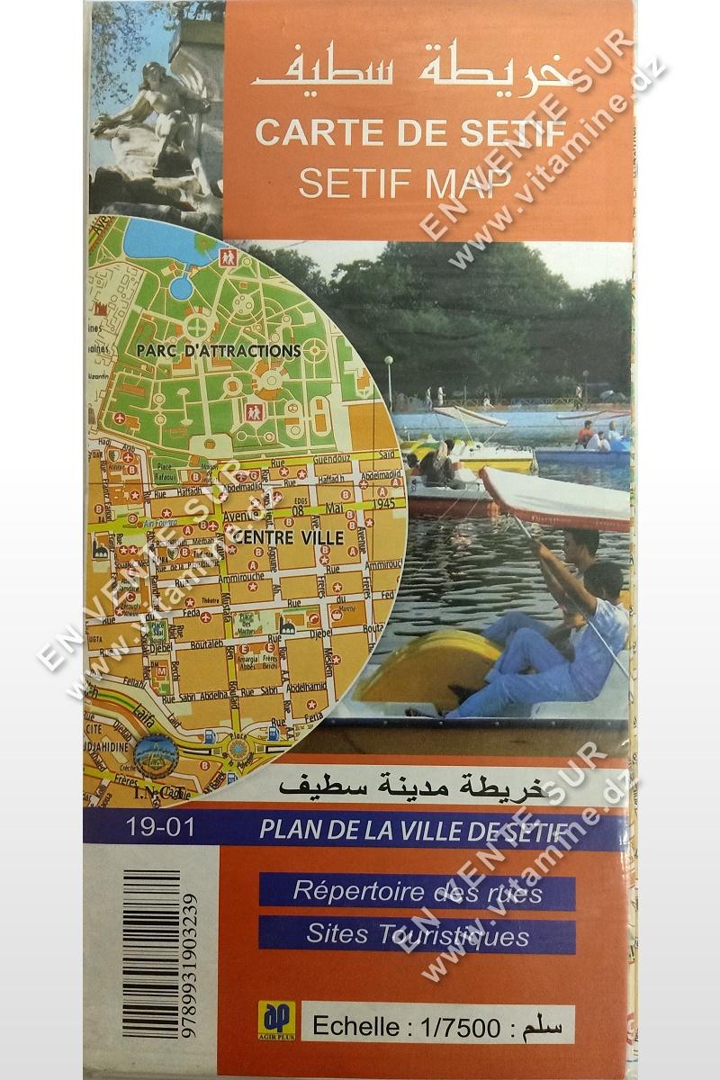 Carte d'e Sétif (Plan de la ville de Sétif)